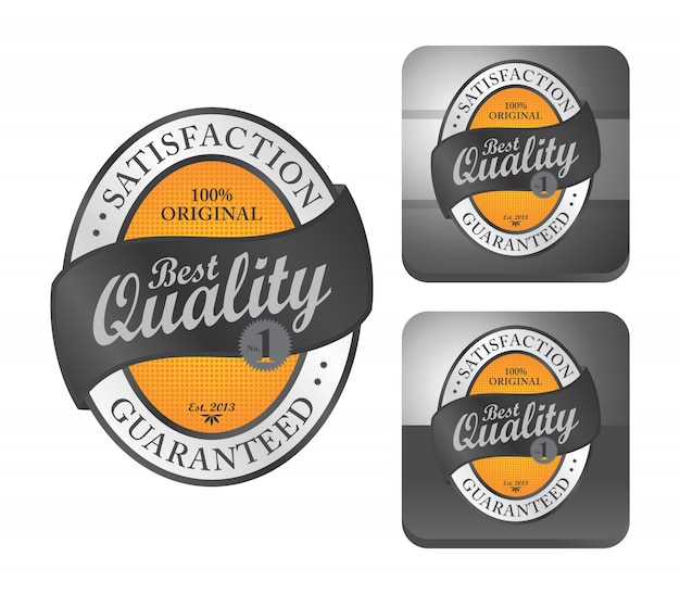 Label sticker Premium Vector