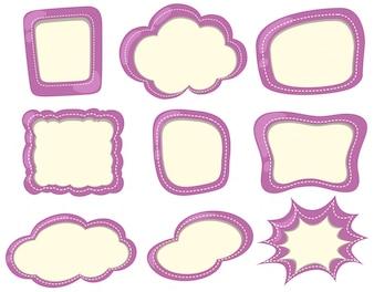 Label template in purple color