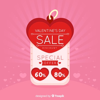 Label valentine's day sale background