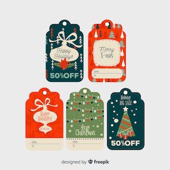 フラットなデザインのクリスマスlabelcollection
