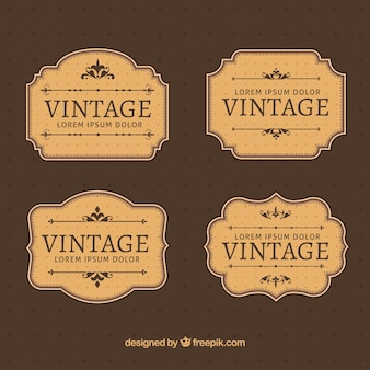 Labels collection in vintage style