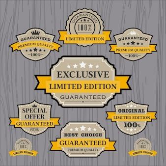 Collezione etichette