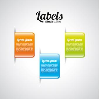 Labels design over gray background vector illustration