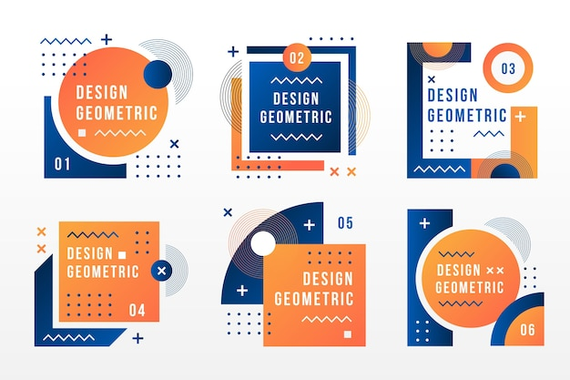 Labels in geometric style