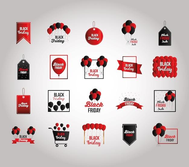 Labels set of black friday l