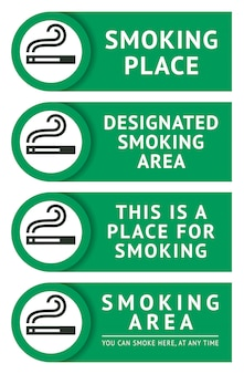 Наклейки для курения Premium векторы