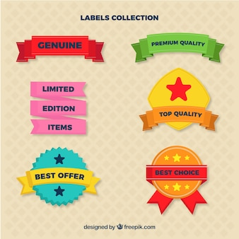 Labels template set