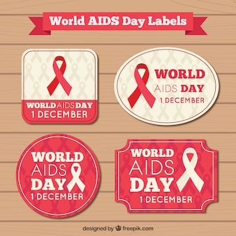 Labes of world aids day