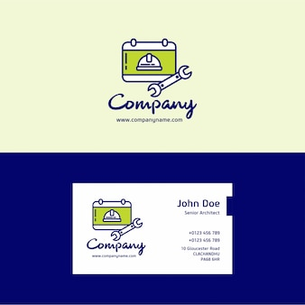 Labor company logo and business card