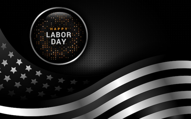 Labor day abstract background with usa flag illustration