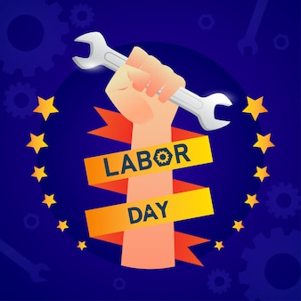 Labor day in america template banner