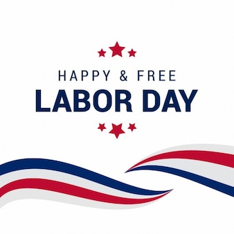 Labor day american waves background