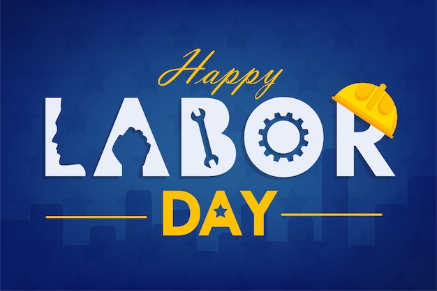 Labor day background design