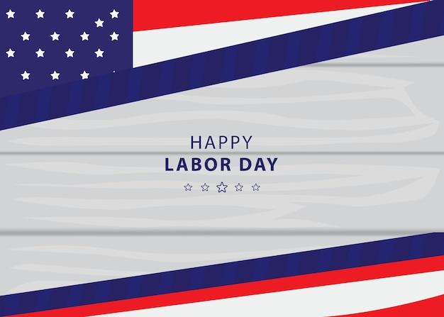 미국 국기와 텍스트가 있는 노동절 배경 또는 배너