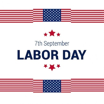 Labor day background with american flag