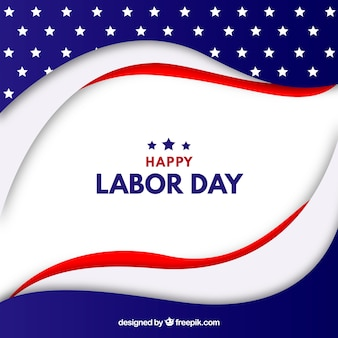 Labor day background with flat flag