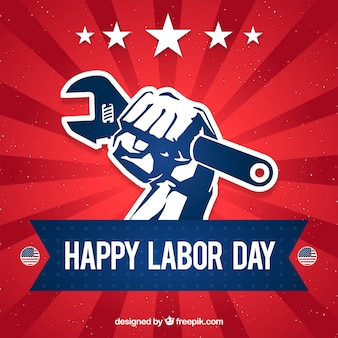 Labor day background with tool