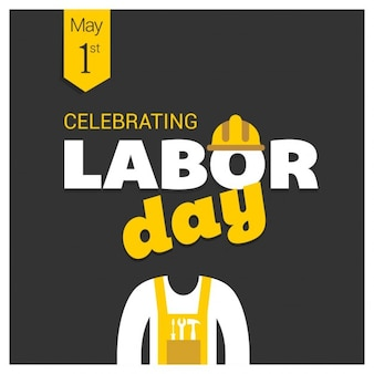 Labor day background with yellow details