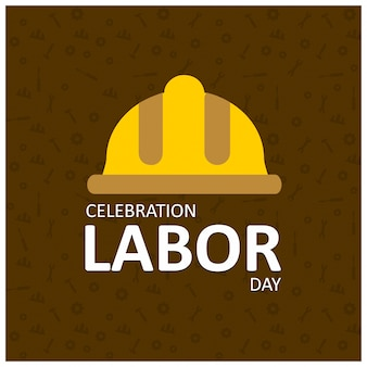 Labor day background with yellow helmet