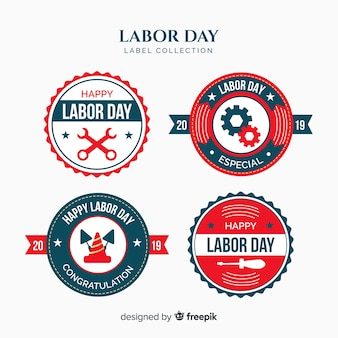 Labor day badge collection
