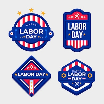 Labor day badge set theme