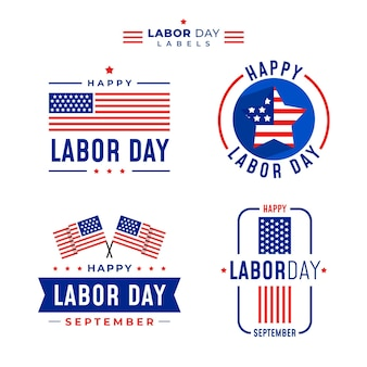 Labor day badge template