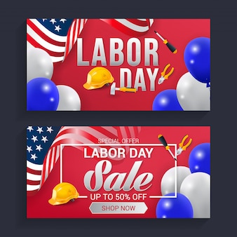 Labor day banner background vector