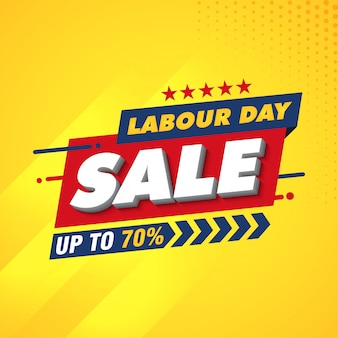 Labor day banner design template