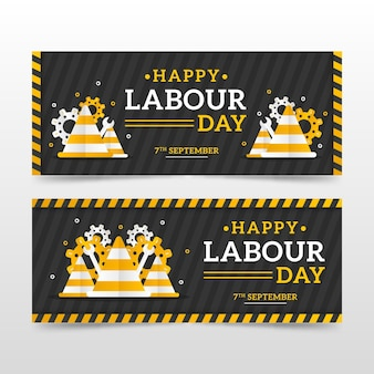 Labor day banner pack