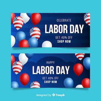 Labor day banner for sales