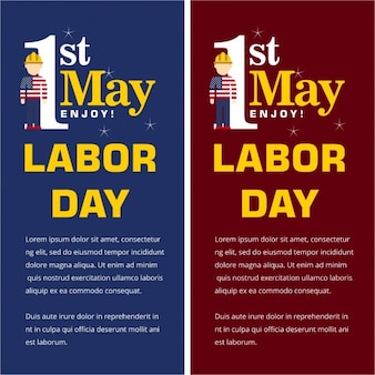 Labor day banner set