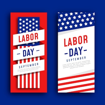 Labor day banner template design