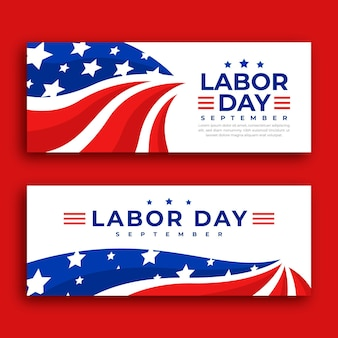 Labor day banner template theme