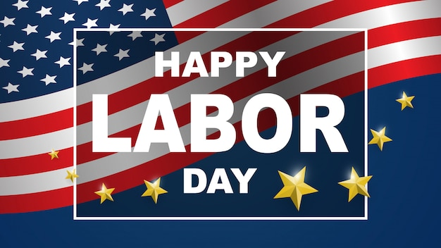 Labor day card design background