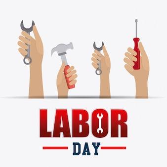 Labor day card design.