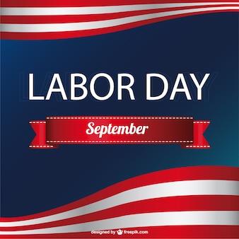 アメリカの労働者の日のベクトル