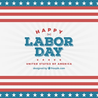 Labor day celebration concept with flat design