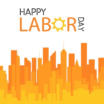 Labor day celebration design with unique style vector