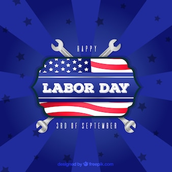 Labor day celebration with flat design