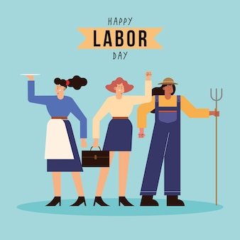 Labor day celebration with workers