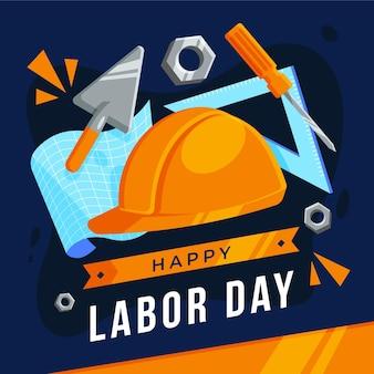 Празднование дня труда Бесплатные векторы