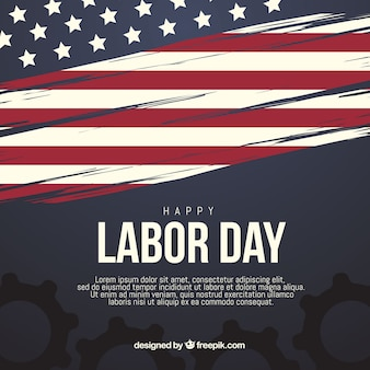 Labor day composition with elegant style