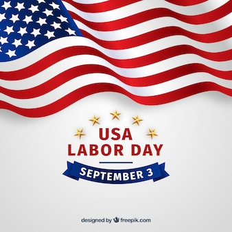 Labor day composition with realistic style