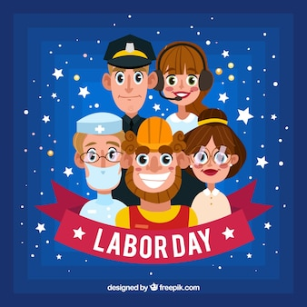 笑顔労働者と労働日の構成