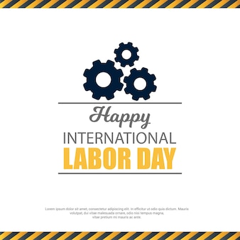 Labor day design with creative typography and design