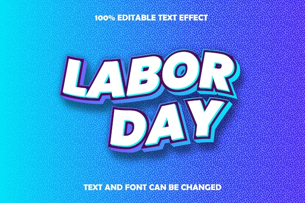 Labor day editable text effect modern style