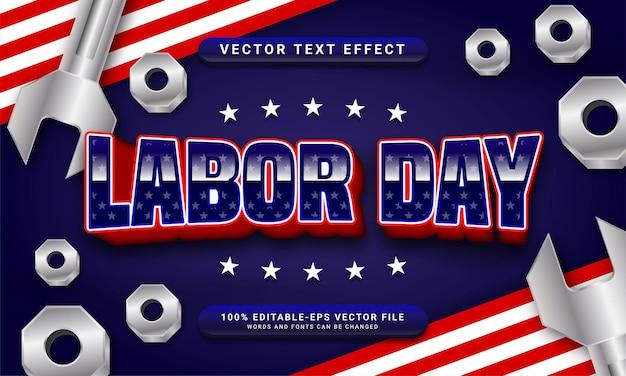 Редактируемый текстовый эффект дня труда, тематическое празднование дня труда