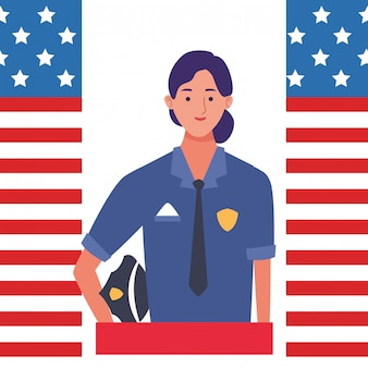 Labor day employment celebration cartoon