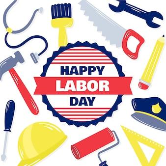 Labor day hand-drawn