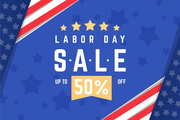 Labor day horizontal banner sale